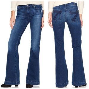 7 for All Mankind DOJO Flare Jeans 27 X 34